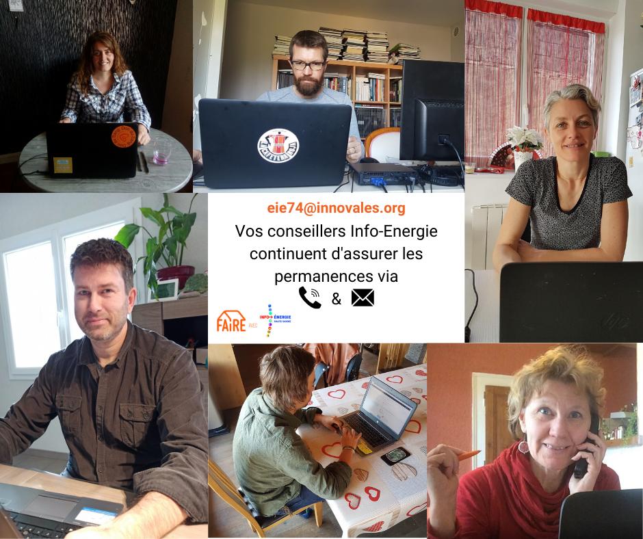 Vos conseillers Info Energie assurent les permanences via - Pendant le confinement, les conseils info-énergie continuent !