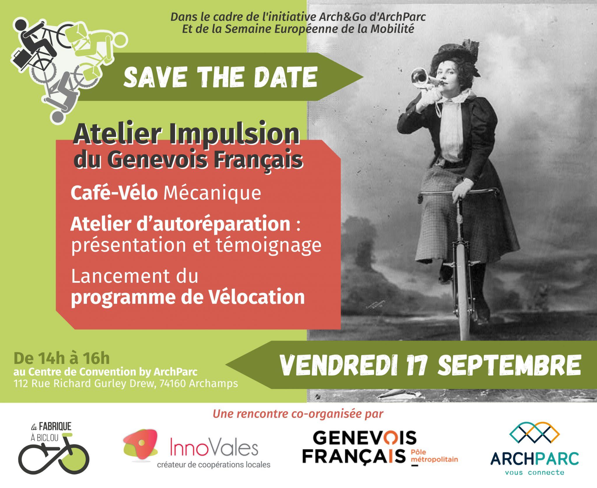 2021 07 Savethedate v3 2 scaled - Café vélo, atelier d'autoréparation, lancement du programme de vélocation