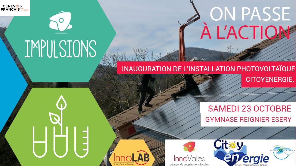 Citoyenergie - Inauguration de l'installation photovoltaïque de CitoyENergie